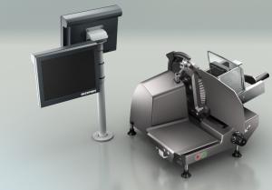 VSC280 Flex, kombinace ručního nářezového stroje s váho-pokladnou