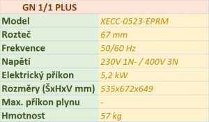 Elektrický konvektomat UNOX XECC-0523-EPRM 5 x GN 2/3 PLUS