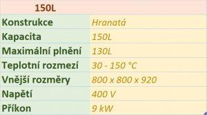 kotel Hranatý 150L