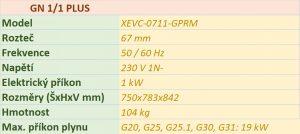 Plynový konvektomat UNOX XEVC-0711-GPRM 7 x GN1/1 PLUS